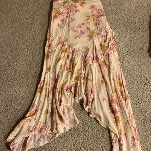 Bp wrap floral asymmetrical skirt